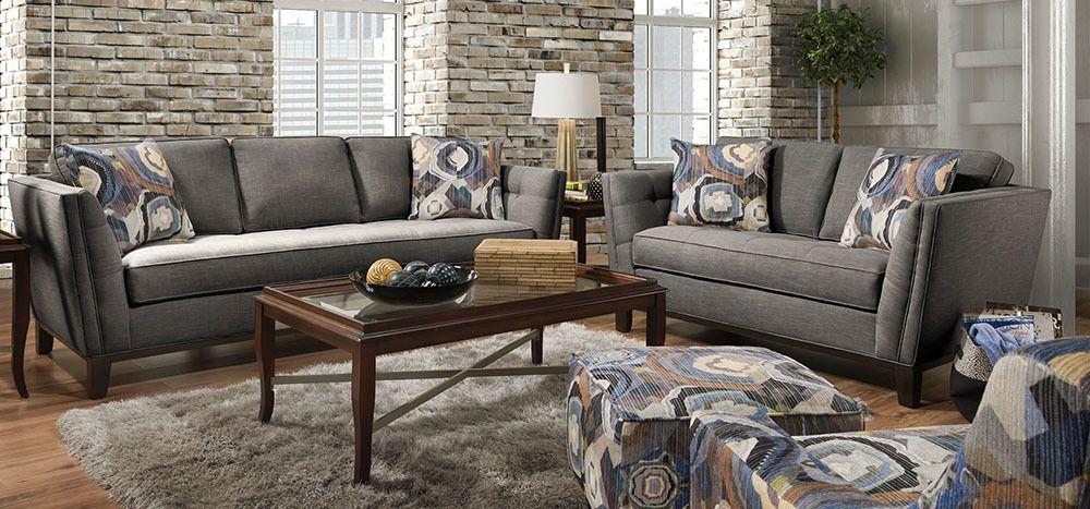 Hot Buy Corinthian Paradigm Carbon Sofa Loveseat Set