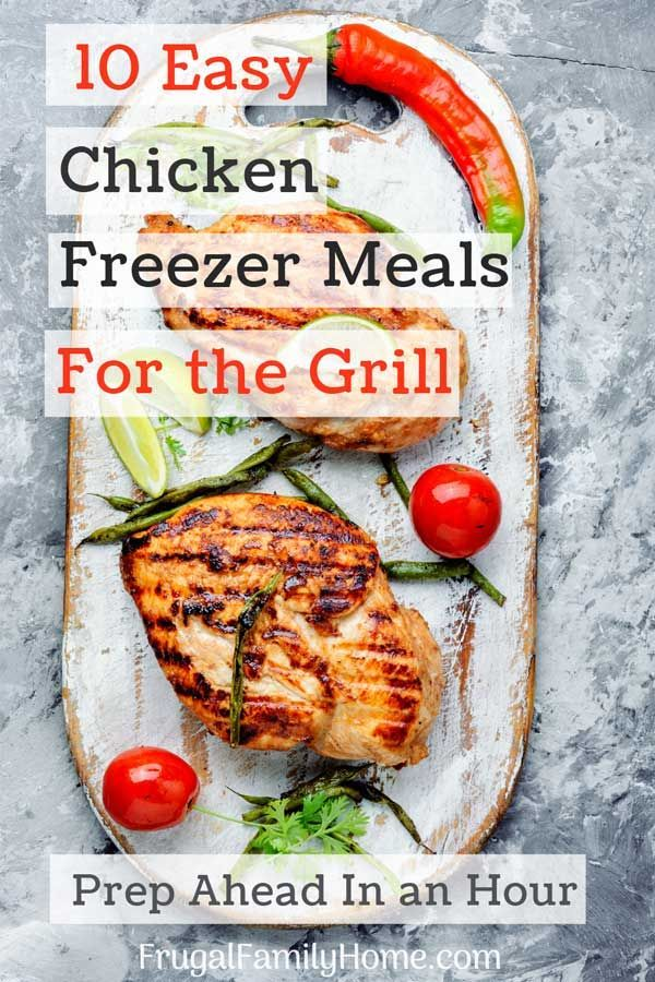 Quick and Easy Chicken Freezer Meals images