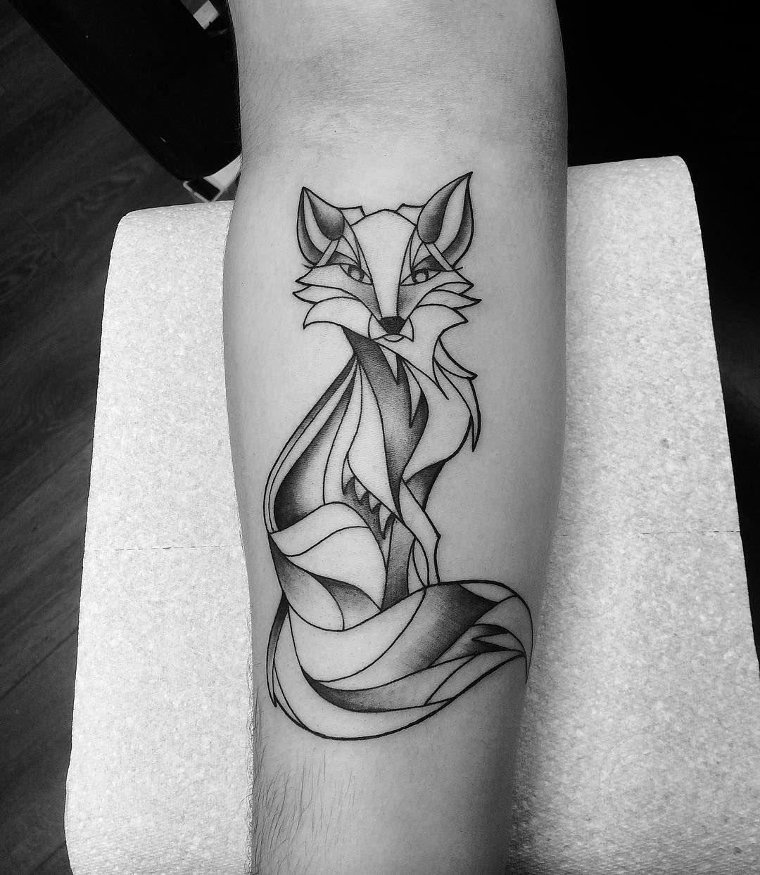 Natural & Simple Fox Tattoo Design