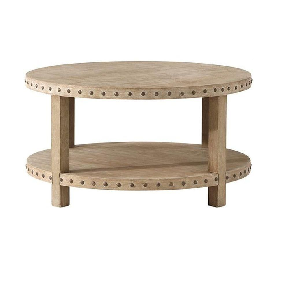 Nailhead Coffee Table Home Decorators Collection Nailhead 36 In W Washed Oak Coffee