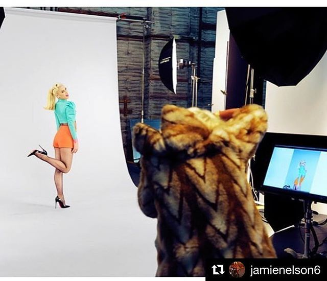 Thank you for sharing your amazing work with us @jamienelson6 !! ------------ Image 1. (1/2). BTS. A collage (including 2 final images), was posted right before this. Check out  @jamienelson6's IG page for more! ------------ Repost @jamienelson6: Behind the scenes of my shoot last week with the amazing @gwenstefani for her new show with @nickelodeontv #nickelodeon #gwenstefani #kuukuuharajuku @gregoryarlt #makeup #jamienelson #photographer @officialdanilohair #hair @unistudios…