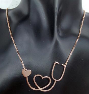 Item description pendant size height 4 cm width 3 cm medical stethoscope heart necklace aloadofball Images