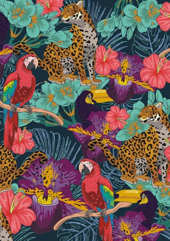 7497# 4 stretch way Newest tropical animal  lycra print-Polyester Spandex Matt- Support to Custom ly #tropicalpattern