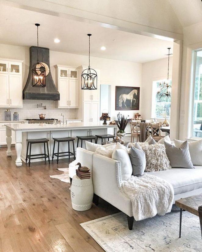 29 The Bizarre Secret Of Dream House Ideas Kitchens Open Concept Living Rooms 4 Onbudgethome Com дизайн дома интерьер бревенчатого дома кухня открытого типа