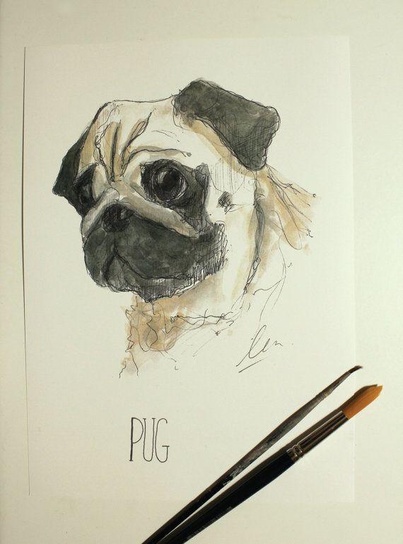 Pug por ElCactusCreativo en Etsy
