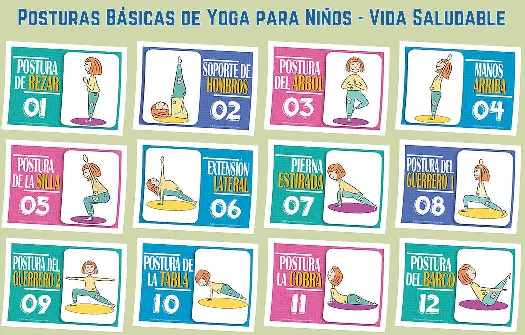 Tarjetas De Posturas De Yoga En Pdf Gratis Fichas De Posiciones De Yoga Ejercicios De Bajo Impac Yoga Para Niños Posturas De Yoga Para Niños Posturas De Yoga