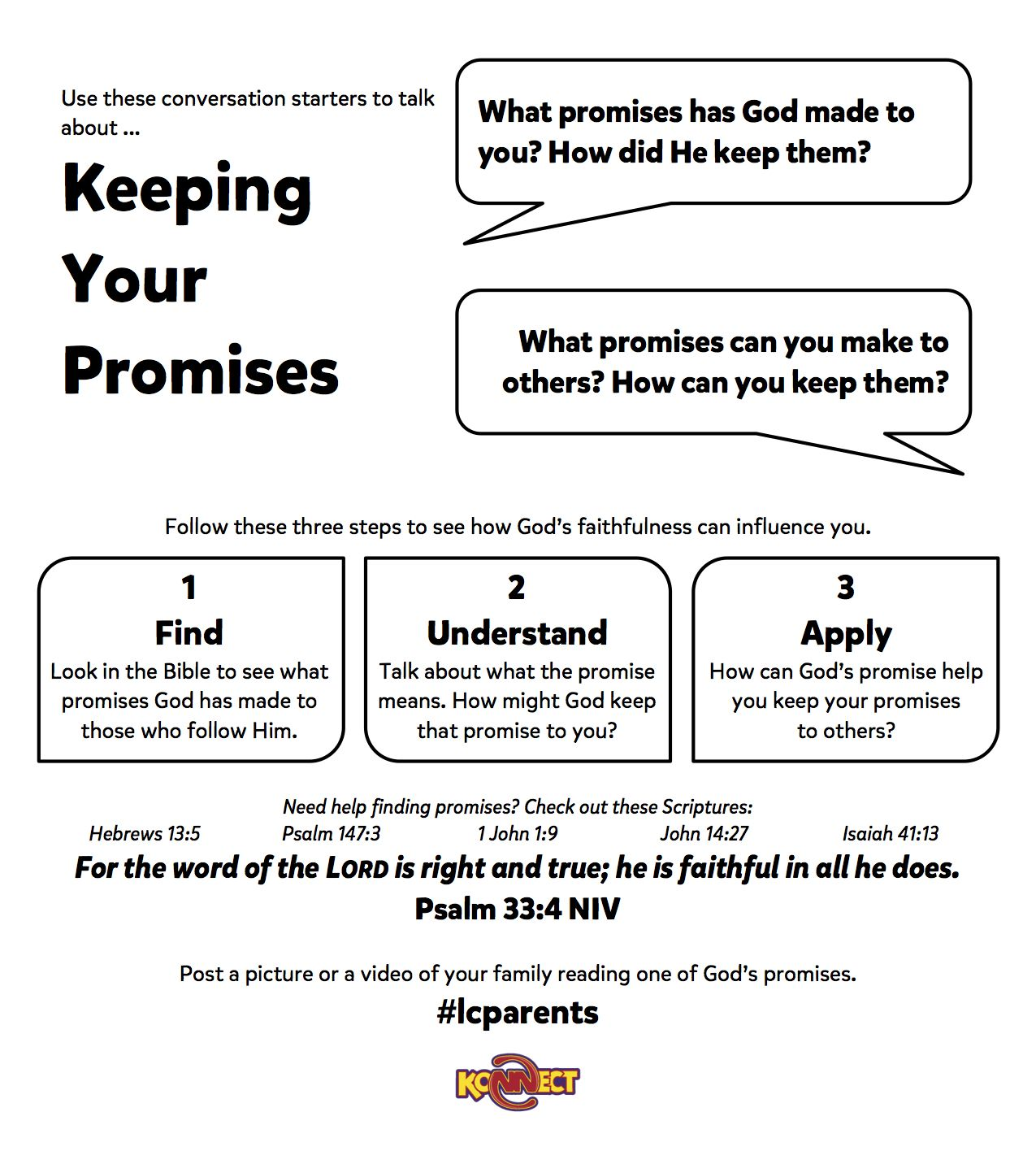 Keeping Your Promises | Fun Worksheets For Families From lcparents ...