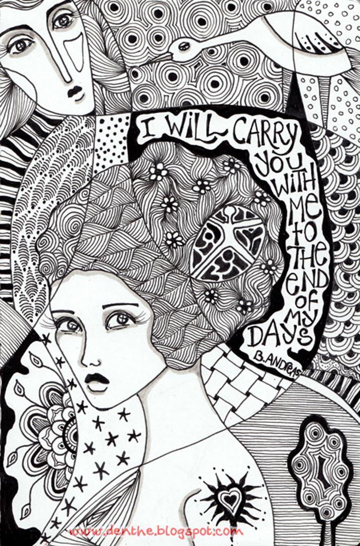 Galerie de coloriages gratuits coloriage doodle doodling 1 un doodle gribouillage int grant - Coloriage magnifique ...