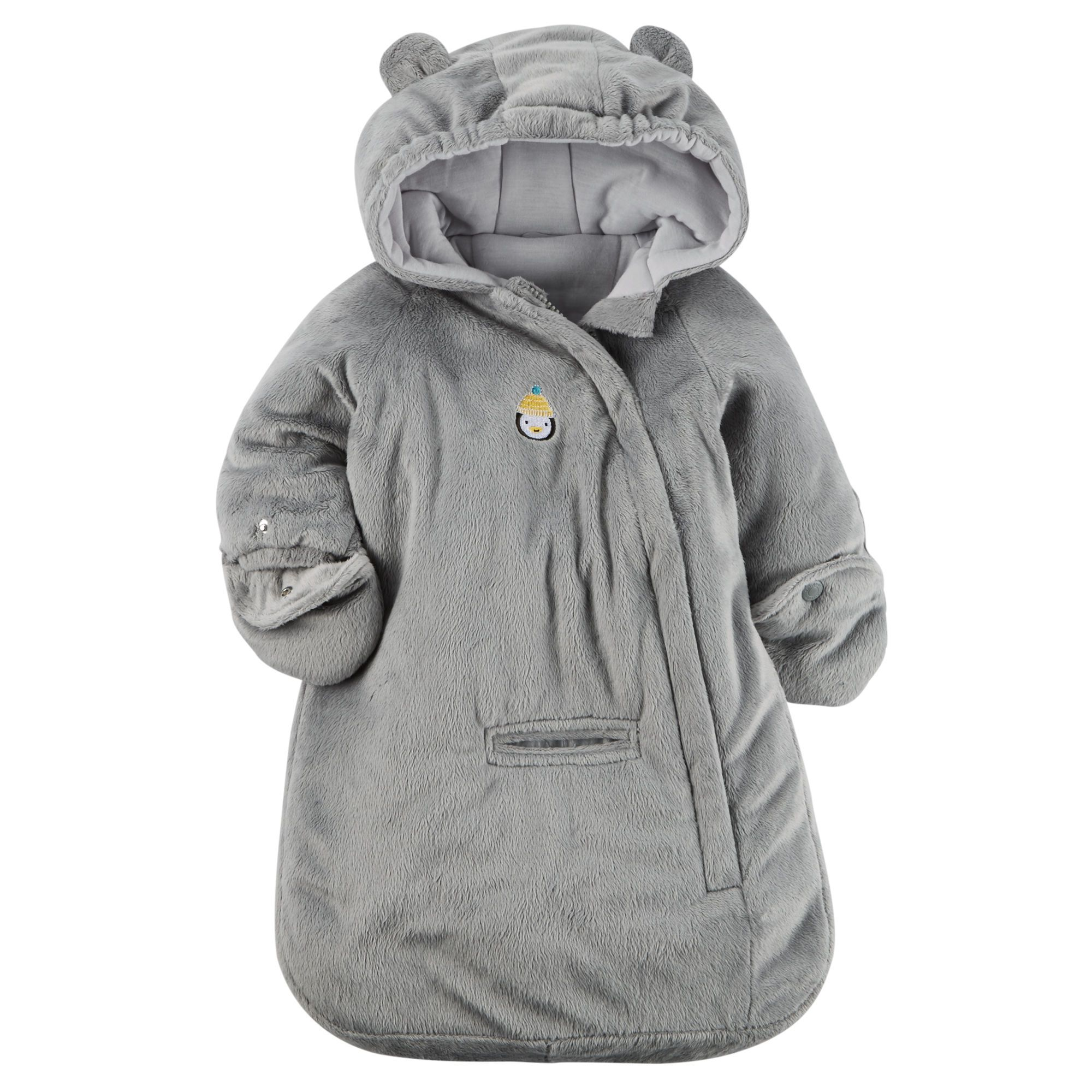 ae4cd16ac Baby Boy Hooded Velboa Bunting Bag