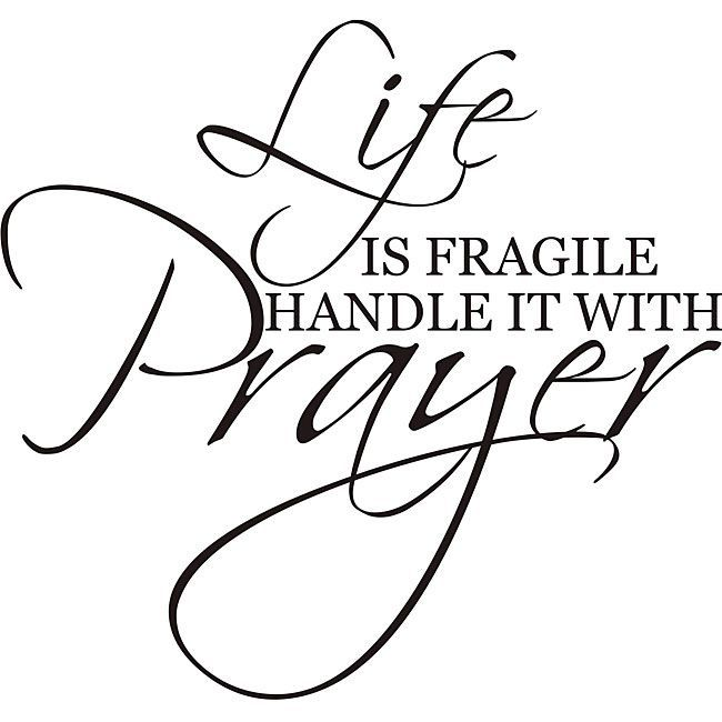 Design on Style Decorative 'Life is Fragile Handle it with