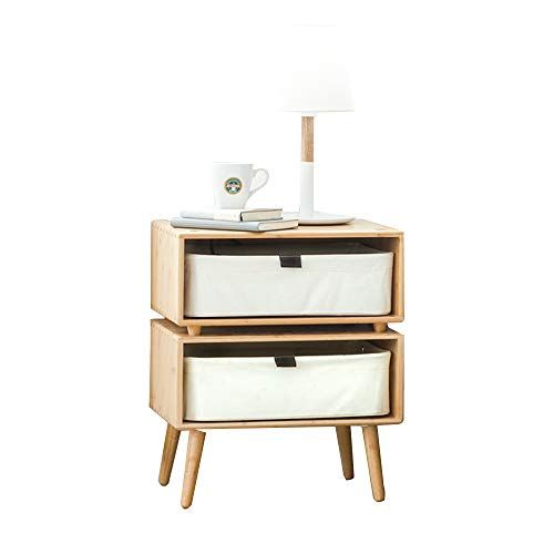 Tables Meiduo Wood Nightstand With 2 Drawer And Storage Bedroom