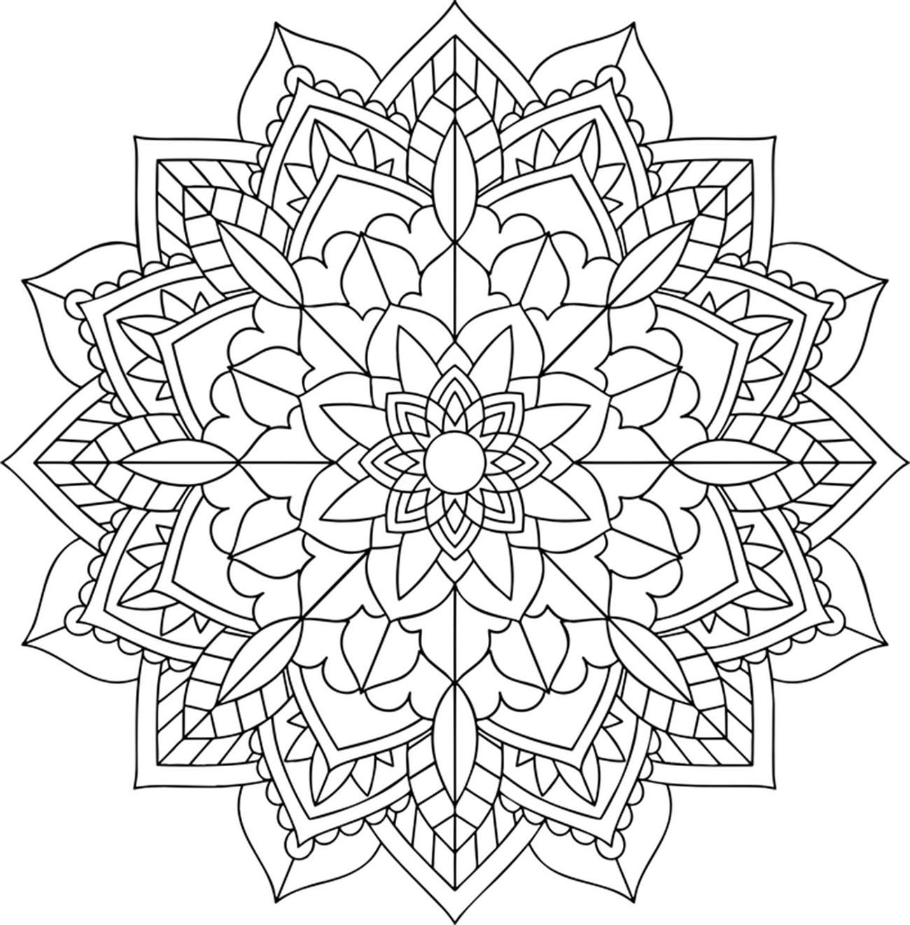 Floral and harmonious Mandala   Prepare your most beautiful colors ...