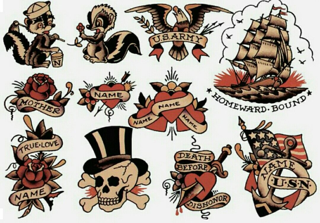 Pin by Big Burg on Traditional tattoos,tattoo flash, and ...