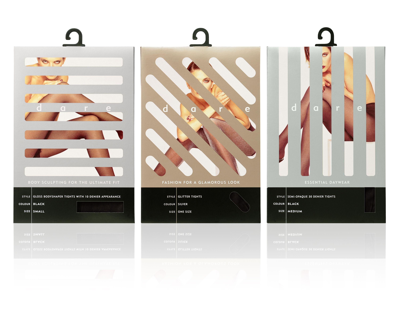 Superdrug Dare tights packaging, designed by Turner Duckworth ...