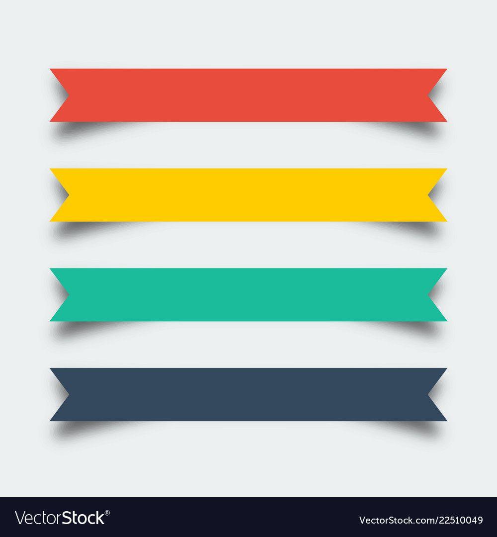 Flat Design Ribbon Banner Ribbon Banner Best Banner Design Banner Design