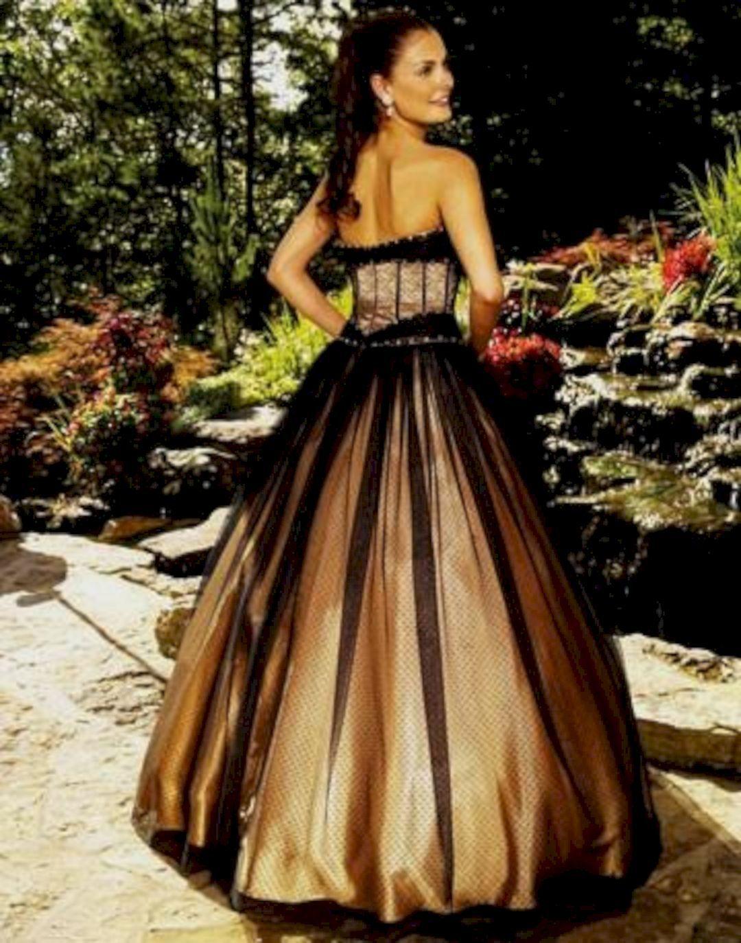 Best 15 Black Gold Wedding Gown For Bride Looks More Elegant Gold Wedding Dress Gold Wedding Gowns Black Wedding Dresses [ 1374 x 1080 Pixel ]