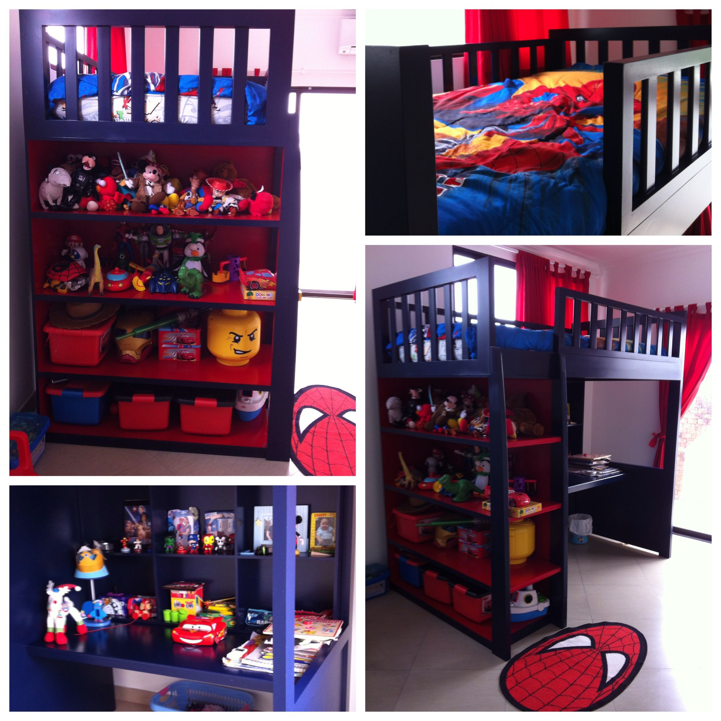 Spiderman Theme Colors Bunk Bed Boys Room Bunk Beds Bed Low