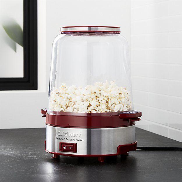 cuisinart easypop popcorn maker crate and barrel appliances dinnerware cuisinart. Black Bedroom Furniture Sets. Home Design Ideas