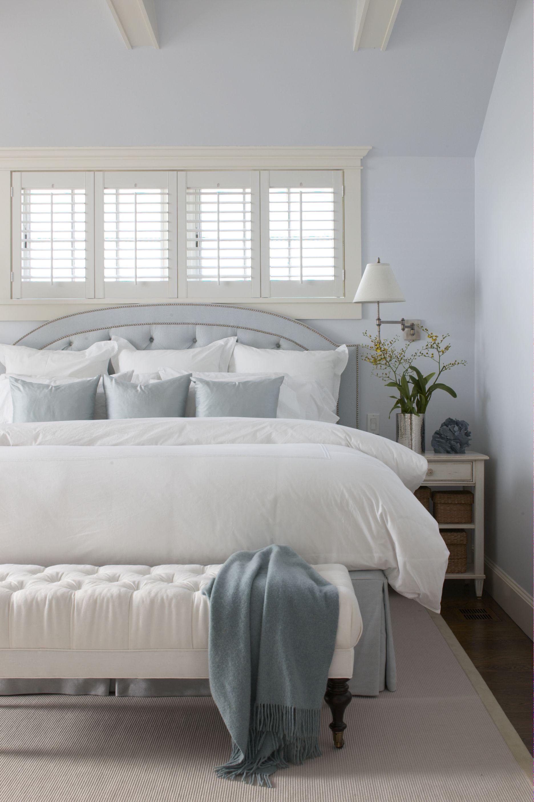 cottage and vine beds in front of windows. Black Bedroom Furniture Sets. Home Design Ideas