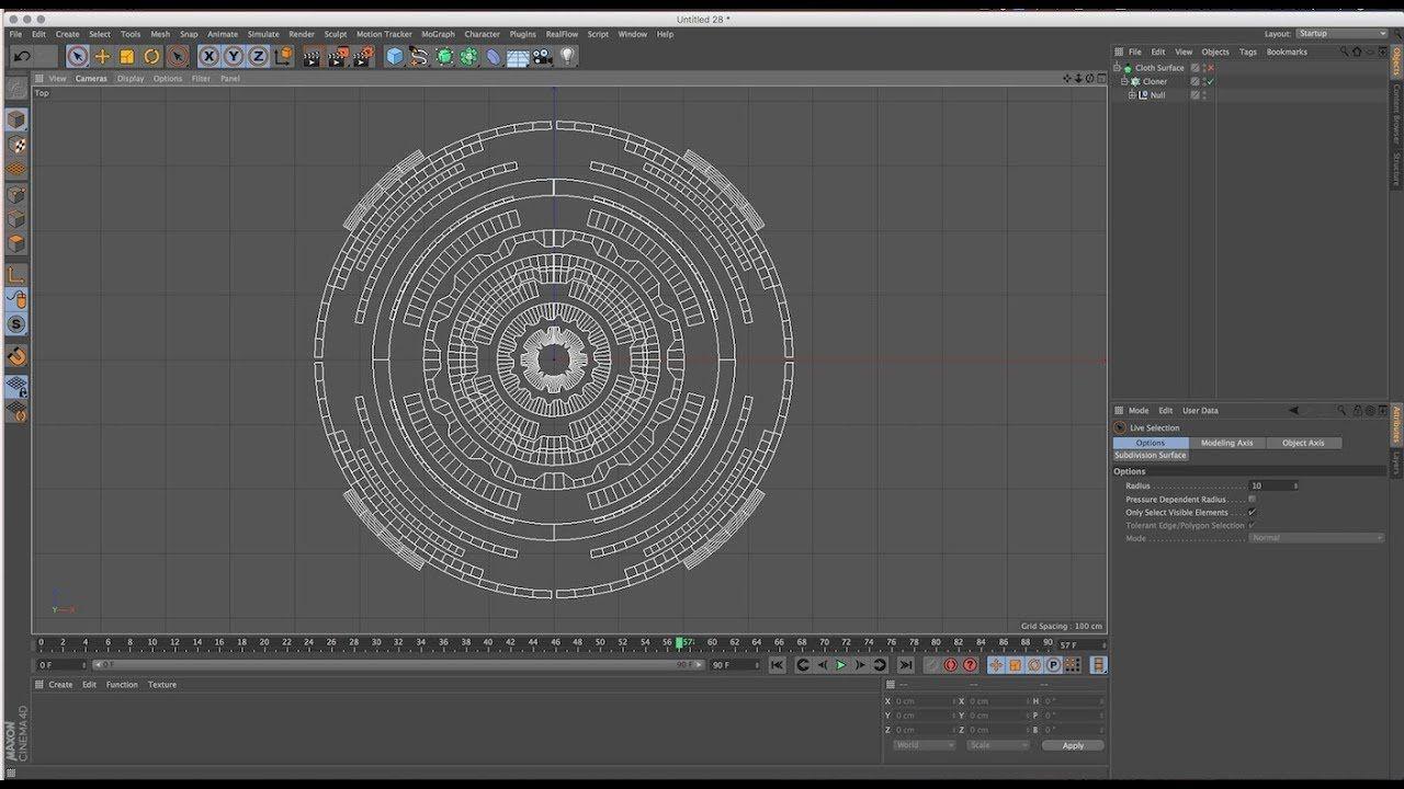 Futuristic Sci-Fi (UI) Pattern using Cinema 4D Tutorial