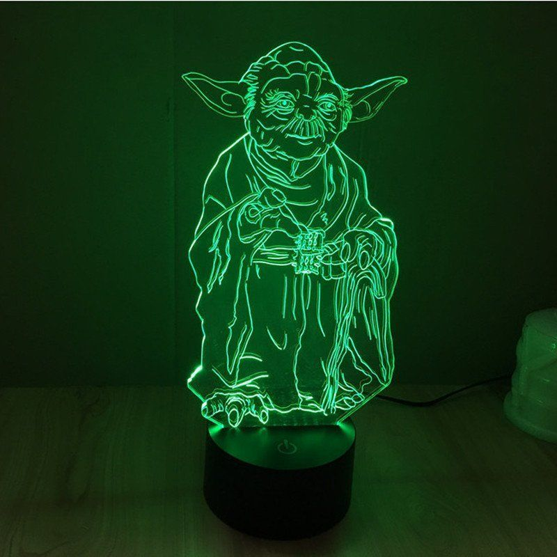 Star Wars Yoda Hologram 3d Light Table Desk Led Lamp Engraving Night Light Home Decor 3d Led Night Light 3d Led Lamp 3d Led Light