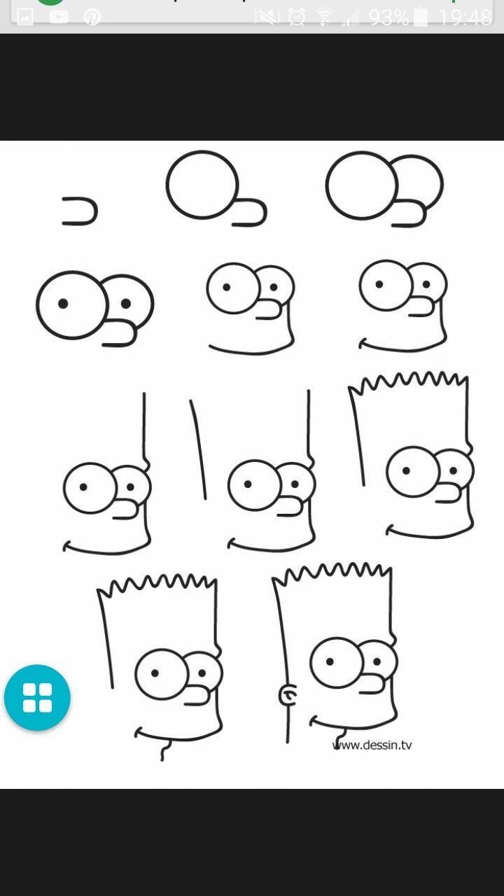 Dessin par étape de bart Simpson | Drawing | Pinterest | Drawings ...