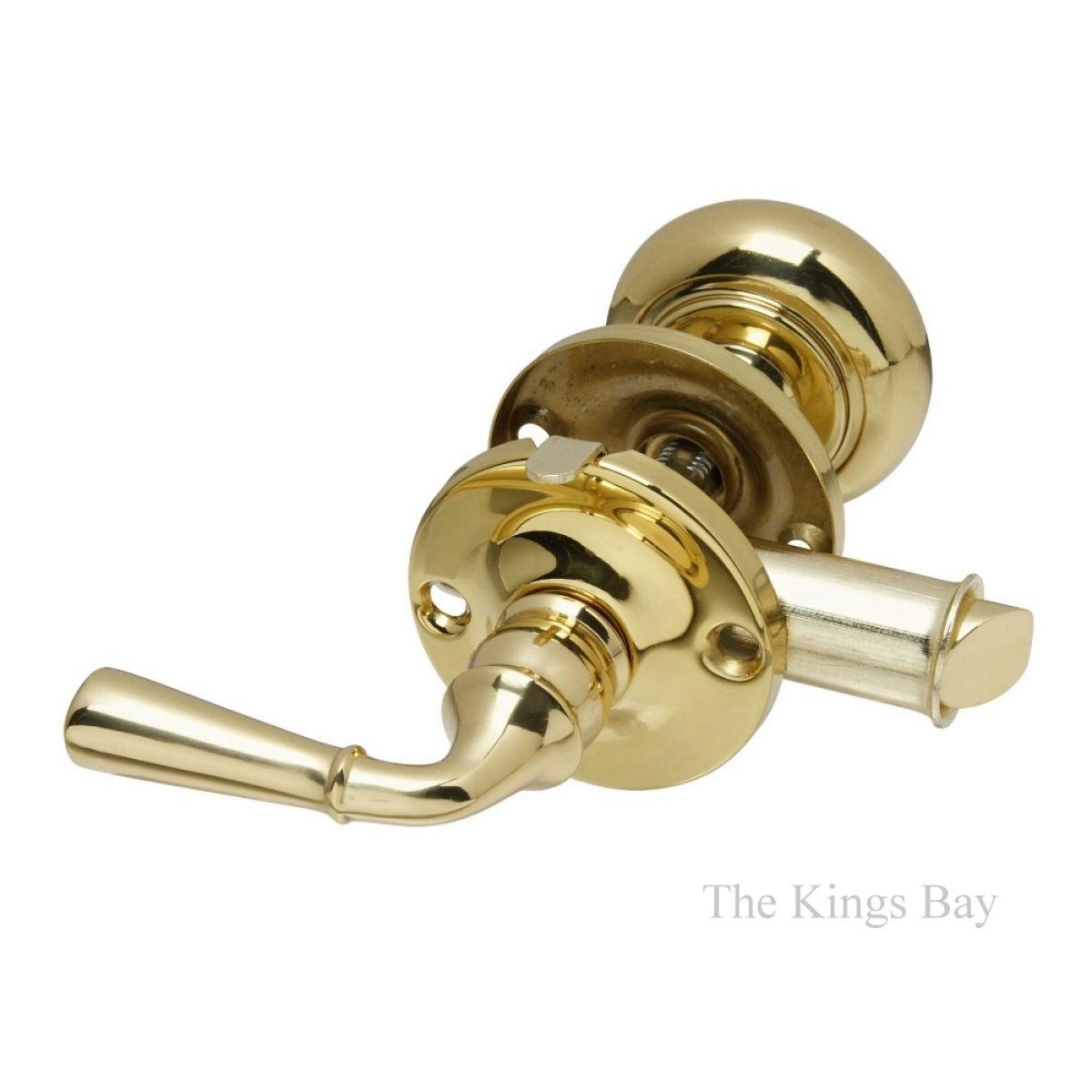 Solid Brass Screen Door Latch Set W Round Knob And Lever Doors