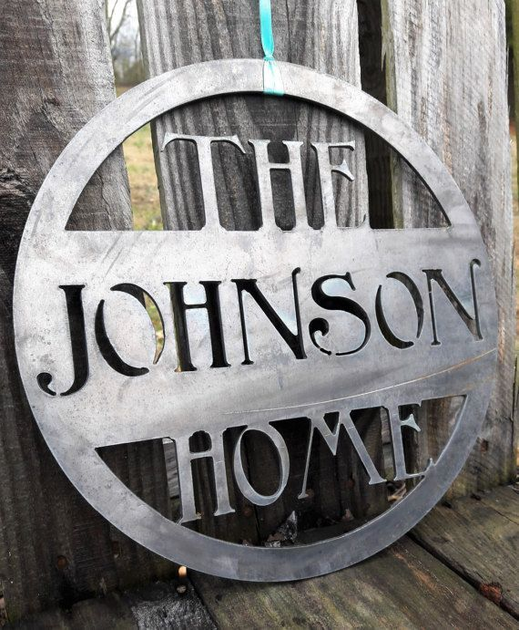 Personalized Metal Home Sign - Wedding Gift - Last Name