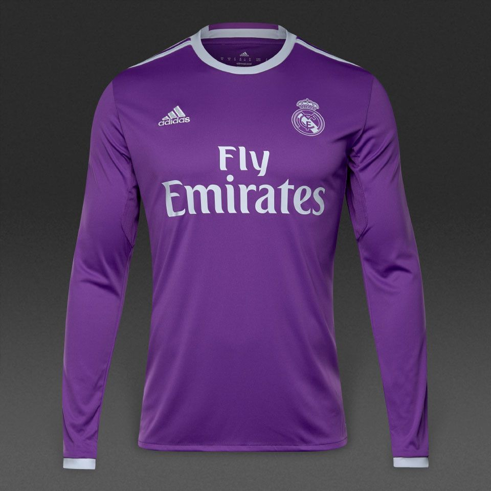 Real Madrid 2016 17 Away Men Long Sleeve Soccer Jersey Personalized Name  and Number 7a33d2cbf