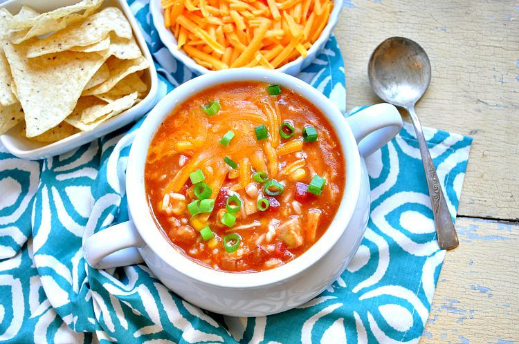 Short-Cut Mexican Chicken and Rice Soup #mexicanchickentacos