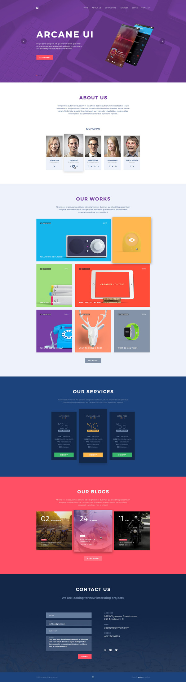 brench portfolio psd template free download psd templates