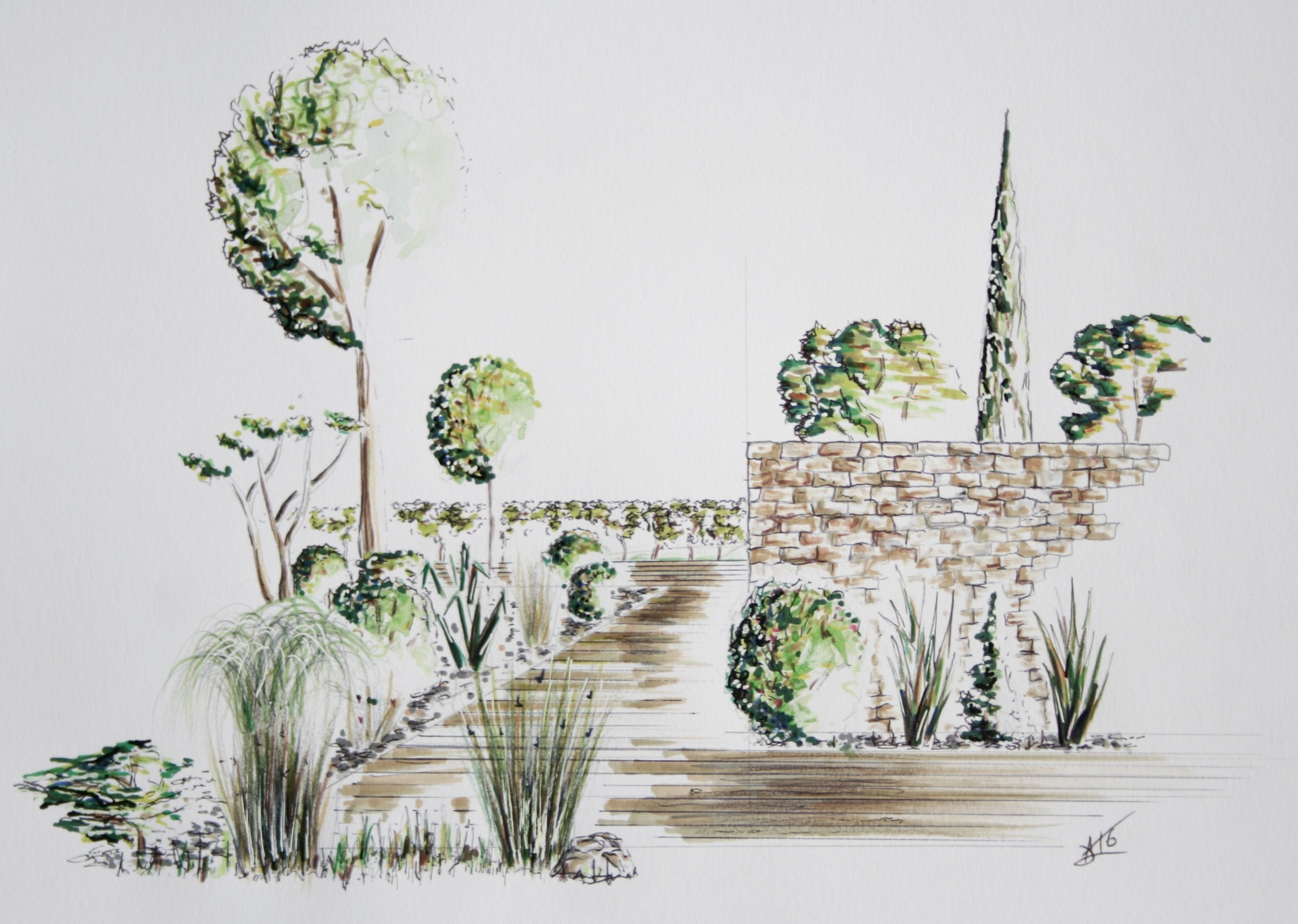 Dessin Perspective Croquis Paysage Alexandre Trubert Www