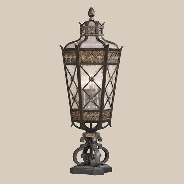 Fine Art Lamps 403983 Chateau Outdoor Post Lantern Fine Art Lamps Antique Glass Lamp