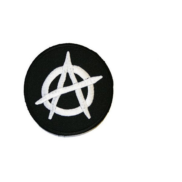 Anarchy Iron On Patch Embroidery Sewing Diy Customise Denim Cotton 2 59 Liked On Polyvore Featuring Home Home Improvement And Cleaning