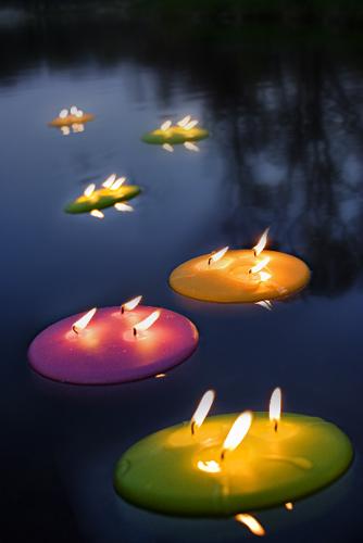 Velas flotantes candlelight and candles pinterest - Como hacer velas flotantes ...