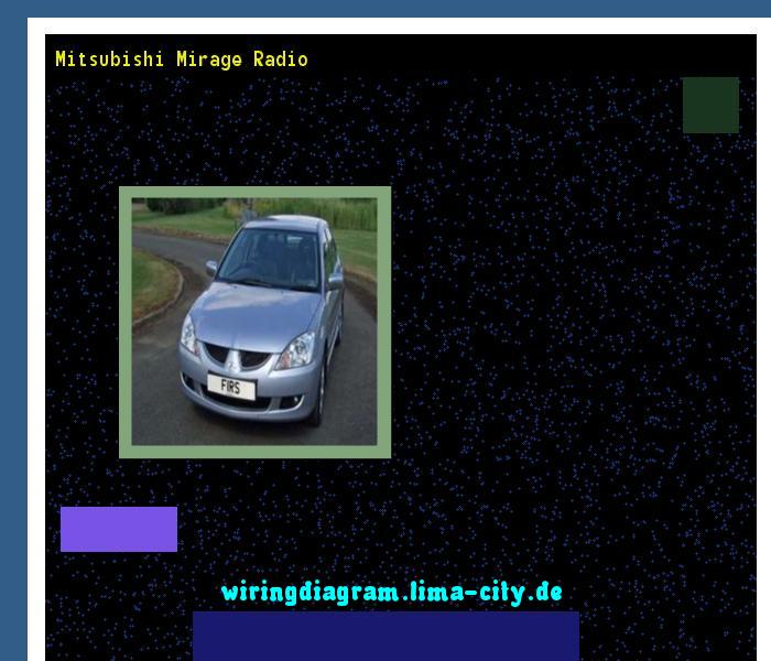 Mitsubishi Mirage Radio  Wiring Diagram 17455
