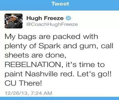 Coach Freeze drinks AdvoCare Spark!