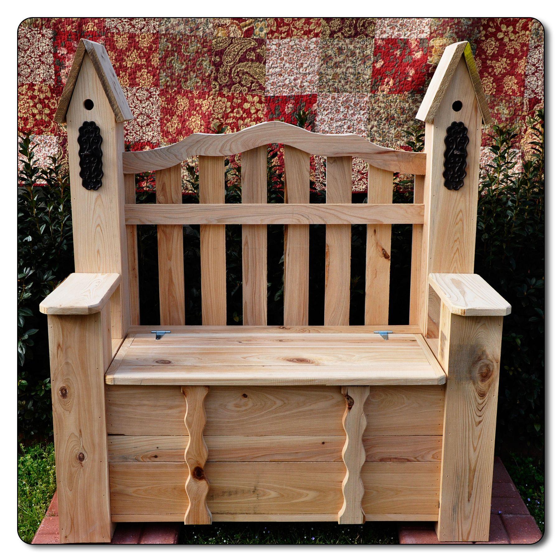 Wooden Birdhouse Bench 1 Garden For The Yard Wooden