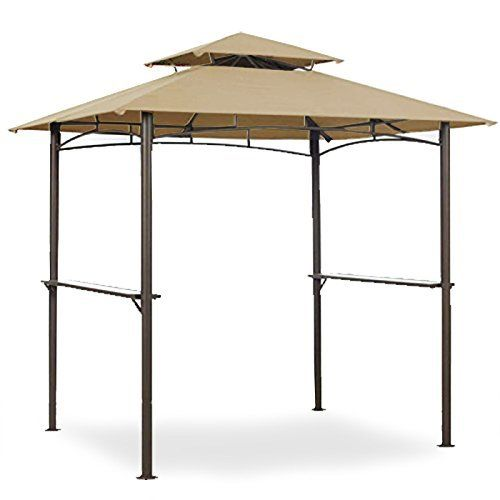 Canopies Gazebos And Pergolas Garden Winds Grill Shelter Replacement Canopy For Model Lgz238pst11 Check Out T Grill Gazebo Steel Gazebo Rectangle Gazebo