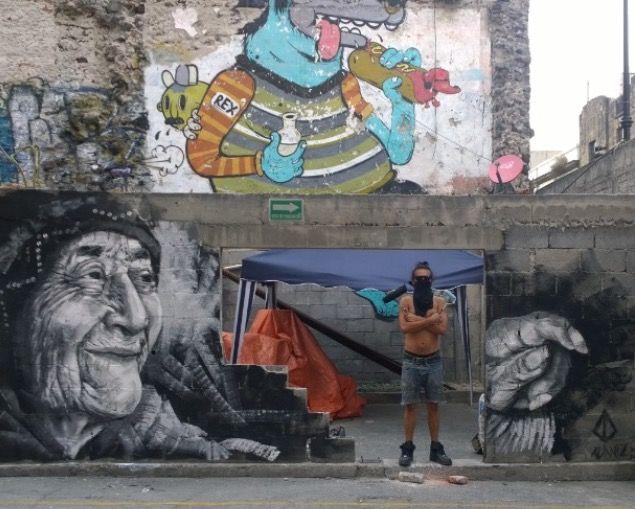 Ala Niz with his work in Mexico City, 2/15 (LP)