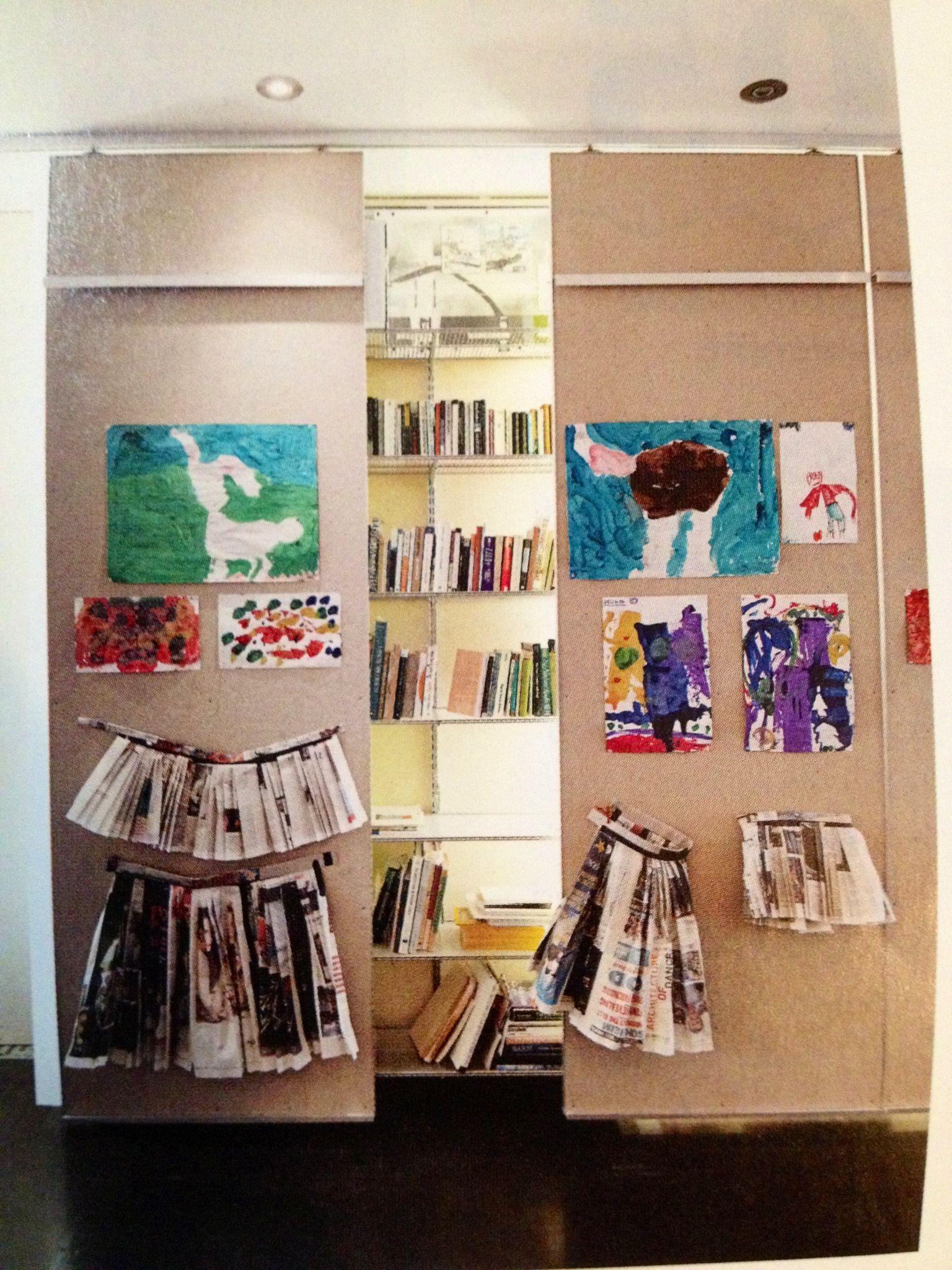 Storage display for artwork wallroomdivider room divider ideas