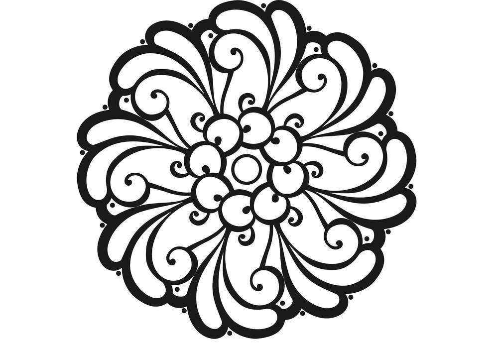 Coloriage anti stress et mandala gratuits pour adulte mandala adult coloring and stenciling - Mandala adulte ...
