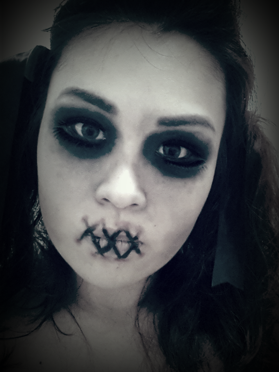 Halloween Makeup Easy Scary.The Makeup Is Actually Super Easy To Do Description From