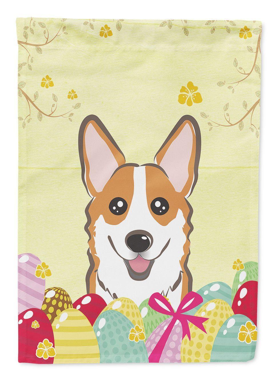 Corgi Easter Egg Hunt 2-Sided Garden Flag