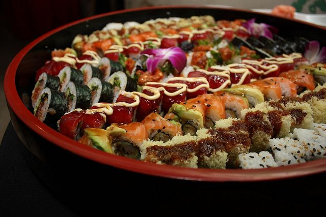Gorgeous sushi by Chowgirls by massdistraction, via Flickr