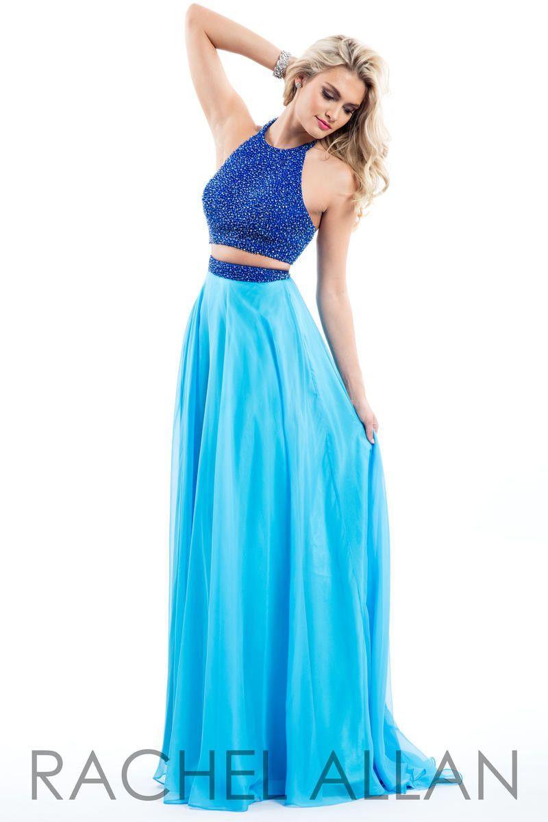 Rachel Allen 7566 Royal/Aqua 2 piece prom dress Size 8 | Rachel ...