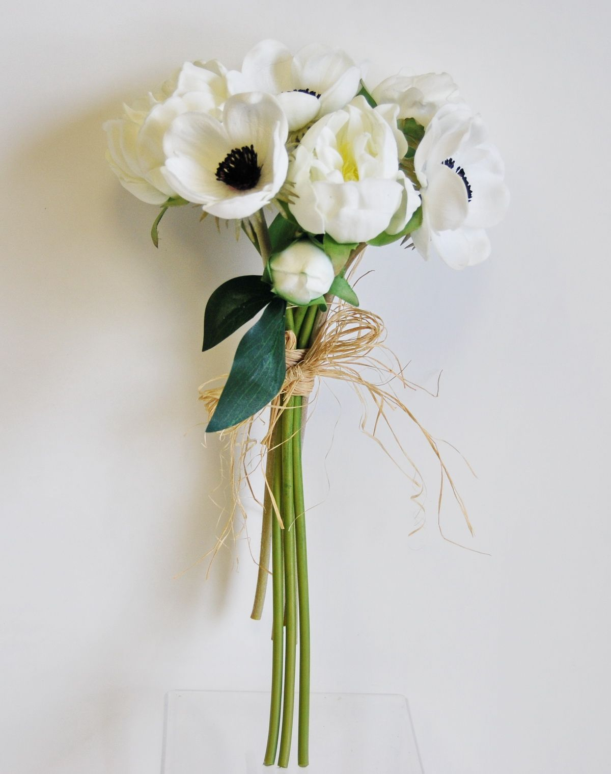 Wb192wh real touch peony anemone bouquet white real touch wb192wh real touch peony anemone bouquet white izmirmasajfo
