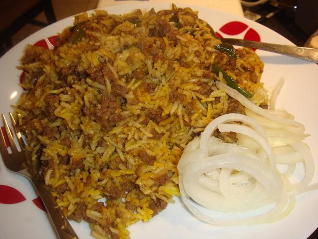 Keema biryani recipes pinterest biryani rice and recipes chicken keema pulao rice biryani pulao this rice dish is prepared with chicken mince chicken keema pulao is a satisfying meal to serve in lunch and forumfinder Images