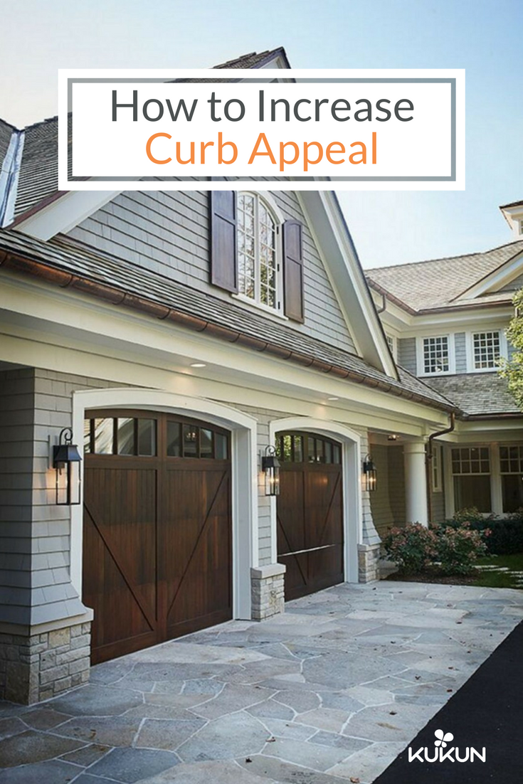 Replacing Your Old Garage Door Is A Great Way To Increase The Curb Appeal Of Your Home Increase Curb A Garage Door Colors Garage Exterior Wooden Garage Doors
