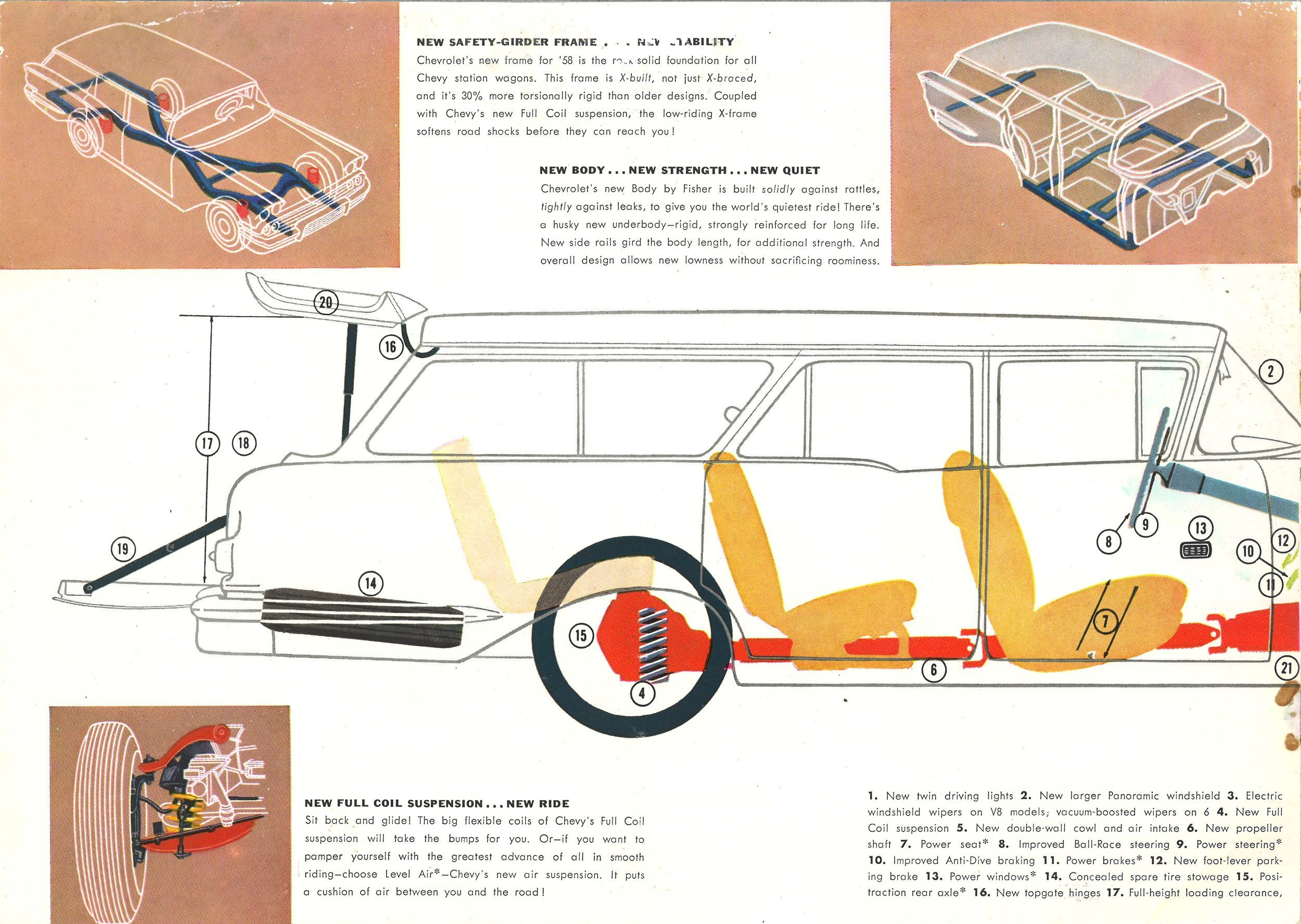 7a6dcc7abf9c14ef3fb0ec7d0883581a long roof love 1958 chevrolet station wagon brochure station